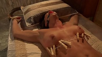 Busty Slave Whipped and Toyed