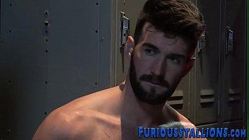 Hairy hunks ass fucking