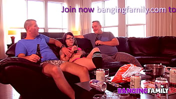 Banging Family - Tattooed Step-Daughter Takes on 2 Cocks in First Double Penetration 12 min