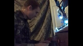 Tom plays piano for Bur