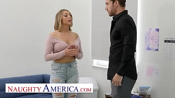Naughty America - Kayley Gunner plays Dr. Boob Job with her friend's husband 15 min