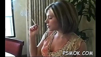 Boys with womens lingerie Juvenile slut in underware playing with herself while smoking