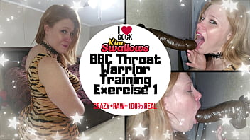 Streaming Video BBC THROAT WARRIOR TRAINING EXERCISE 1 Featuring Kim Swallows - XLXX.video