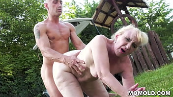 Mature blonde Nanney is fucked by that golf instructor