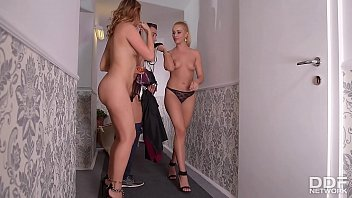 Cherry porn After party blowjob threesome with cherry kiss ani blackfox