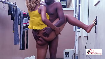 Lanky guy publicly bang tall creamie model; Horny Drips