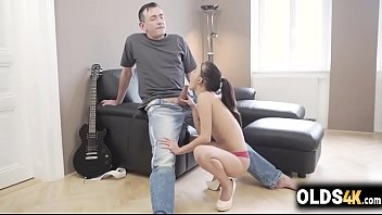 Old dude eating the pussy of a sweet girl -Tina Walker