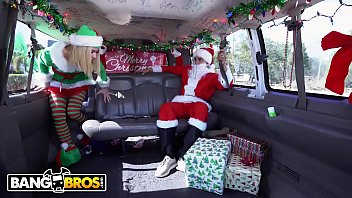 BANGBROS - Maddie Winters Dresses Like Elf On Bang Bus And Gets Power Fucked By Santa 12 min