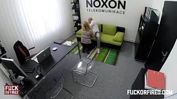 Horny blonde secretary fucks her boss in the office Image