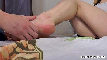 Big Tits Clary Shows Her Footjob Skill 7 min