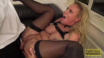Milf first time bondage British skank sasha steele throated and fucked hard in ass