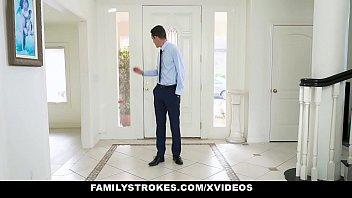Familystrokes - Busty Slut (Ryder Skye) Fucks Her Stepson Before Marrying His Dad