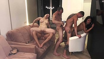 Part 3: Girls served 3 cocks and were covered in cum..... Katty West and Oliver Strelly porno izle