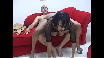 Filthy Ebony Whore With Huge Melons Loves To Be Fucked Doggy Style By A Black Guy On The Couch