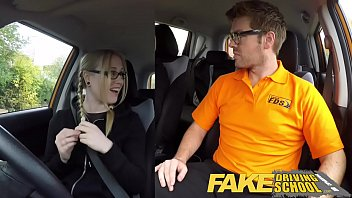 Fake Driving School Creampie for teen leaner with hairy pussy Preview