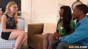 Ana Foxxx & Alexa Grace Interracial Threesome Sex 8 min