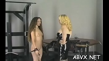 Free slavery porn - Hot female fucked and stimulated in extreme slavery