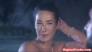 Glamour asian pounded in front of voyeurs