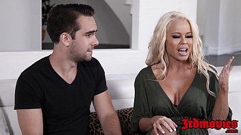 Cougar Nikki Delano makes her husband watch her fuck 12 min