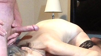 Mature Mom Gets A Big Facial When Husband Strokes His Cock To Orgasm
