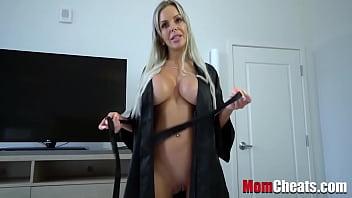 Blonde MILF Mom Asks Son For A Favor- Nina Elle