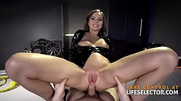 Sexy step-mom Tina Kay reveals her naughty latex fetish