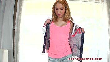 Petite Teen Mae Olsen Sucks Big Cock