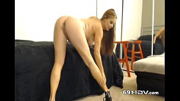 Big hard cock made cam babe squirt