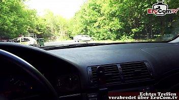 German skinny milf Slut pick up on street and fuck outdoor - REAL DATE pov 16 min
