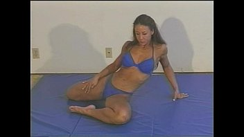 Mixed Wrestling With Fitness Model Charlene Rink Part 1