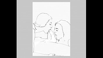 Speed drawing of one of my erotic artworks