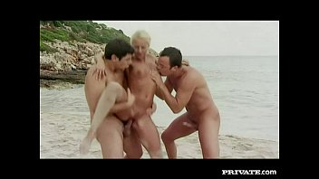 Private.com - Trio with DP on the beach