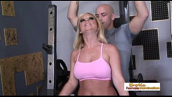 Sk inny mature pussy pics Busty blonde gets an orgasm from her big dick workout instructor
