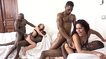 Sasha Zima & Dana Santo - two whores going crazy for big black cock
