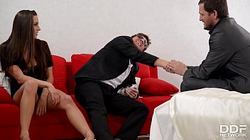 After party anal stuffing in the bedroom makes Mea Melone scream