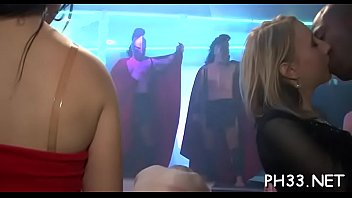 Yong girls in club are cheerful to fuck