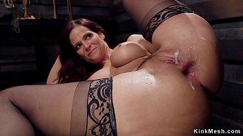 Huge tits MILF rough anal banged