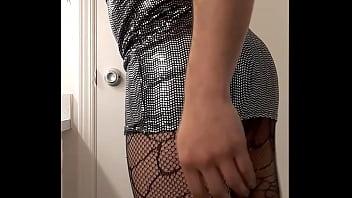 "Sexy Crossdreser wearing shiny dress <span class=""duration"">2 min</span>"