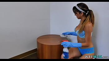 Hairy pussy office maid