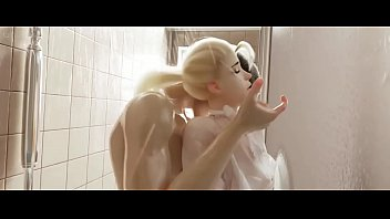 Overwatch Sluty Mercy caugth in the shower. Insane shower fucking