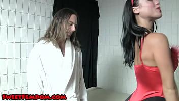 Devil Woman Jerks Off Jesus FACE SITTING PANTYHOSE COSPLAY HJ 2 min