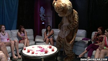 Bachelorette Party Goes Crazy For the Bear! (db14088) 5 min