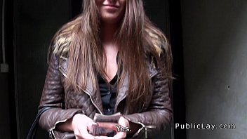 Hungarian babe from public bangs in apartment image