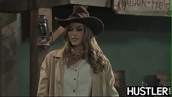 Hustler bitch Wild west lesbian ryan ryans forms 69 on bar counter