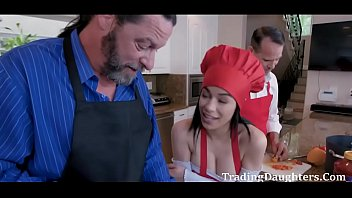 Cook and Cock with DADS- Gianna Gem and Savannah Six
