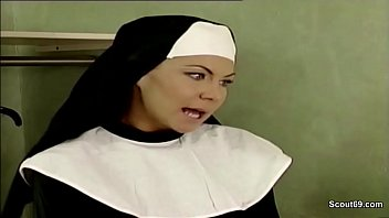 Nun porn fisting German nun seduce to fuck by prister in classic porn movie