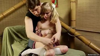 teen blonde angel Paulina (Lisa) - Cute Amateur Teen gets Tied up and Fuck Porno indir