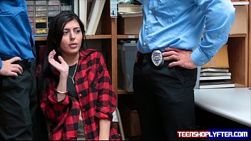 Opening sex shop store - Teen thief audrey royal fucks two security guards