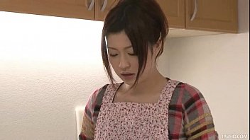 Riko has a dildo dream in her kitchen and uses her toys to cum