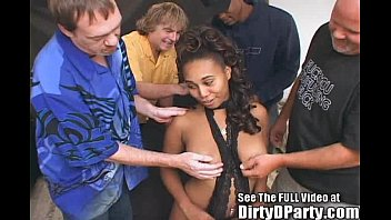 Horny Ebony Cum Coated Sex Party!